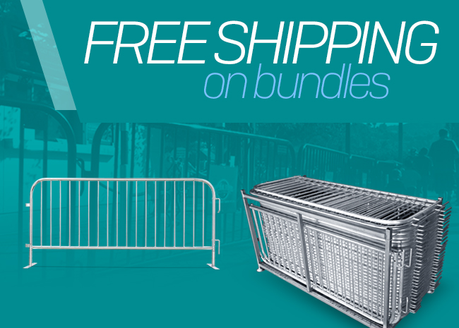 Crowd Control Barriers Free Shipping on Bundles