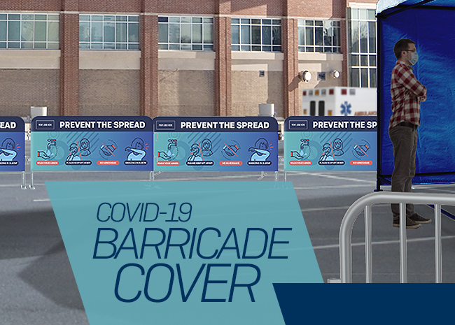 Crowd Control Barriers Covers Covid-19
