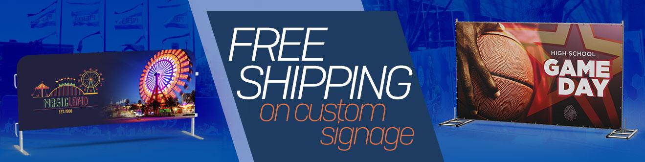 Custom Signange Free Shipping